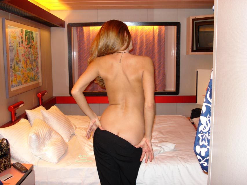 Pic #1 - Undressing Black Pants - Black Hair, Blonde Hair, Long Hair , Undressing In Hotel Room, Blond Long Hair, Black Pants, Poseing In A Cruise Ship Cabin, On The Cruise Ship Back From The Captians Dinner, Peeling For The Camera, Black Beaded Necklace, Curved Back, Standing Facing Away Easing Down Trousers, Slender Bare Back, Ass Crack, Tall Slender Blond, Arched Back, Black Dress, On Board A Crusie Ship, Black Skirt, Sexy Strip Tease, Black Skirt Coming Off, Back To The Camera