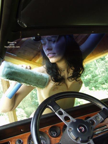 Pic #5 - Naked Babe Washing My Ride
