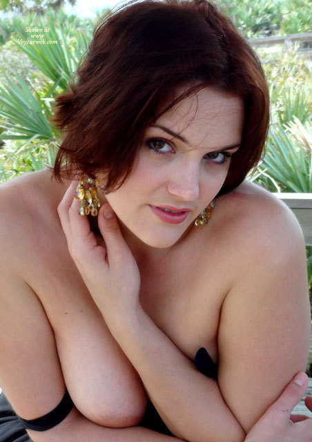 Pic #1 - Boob Slip - Big Tits, Brown Eyes, Topless, Sexy Boobs, Sexy Face , Pretty Face, Top Slipping Off Her Shoulders, Concealing Her Breasts With Her Pose, Gold Earrings, Giving Camera A Sultry Look, Big Soft Tits, Topless But Crossed Arms Cover Her Boobs, Sexy Look, Brown Eyes