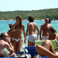 Miky's Coming Back.. Sardinia 09 Topless Beach