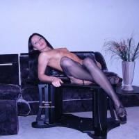 Sexy Long Legs - Black Hair, Erect Nipples, Long Hair, Long Legs, Small Tits, Stockings, Looking At The Camera, Sexy Legs