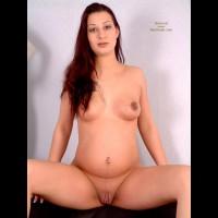 Pregnant Hottie Spreading Legs