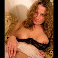 Touching Herself - Erect Nipples, Large Aerolas, Touching Herself