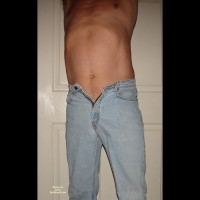M* Blue Jean Strip And Jack Off