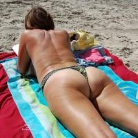 Shy Wife At Textile Beach