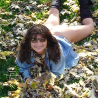 Melony Jane Playing In The Leaves 2