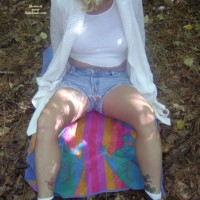 Angel In Shorts In The Woods