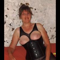 Leather Corset & Body Stocking
