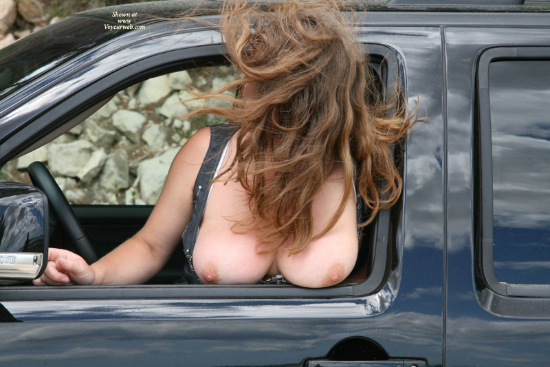 Pic #1 - Tits Hanging Out Car Window - Big Tits, Brown Hair, Flashing, Hanging Tits, Huge Tits, Large Breasts, Long Hair, Milf, Topless, Topless Wife, Big Round Mellons, Hair Covering Face, Large Gorgeous Breasts, Her Long Hair Flies In The Wind, Girl Getting Ready To Take Topless Stroll, Big Round Tits, Flashing Passing Cars, Flashing Breasts, Hairy, Topless Hanging Out Car Window, Looking Out For Oncoming Traffic Before Opening Vehicle Door