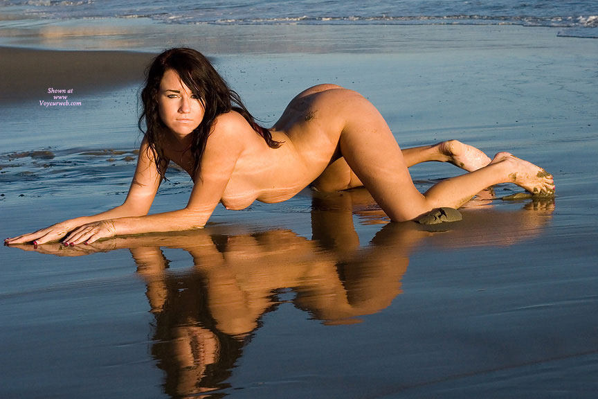 Sand Reflecting Like A Mirror - Brown Eyes, Brown Hair, Doggy Style, Erect Nipples, Hanging Tits, Long Hair, Long Legs, Naked Girl, Nude Amateur, Sexy Figure , Crawling From The Ocean, Longs Legs, Seductive Eyes, Doggy Style In The Water On Beach, Firm Rounded Butt, Mississippi Mud Hottie, Naked Woman With Sand In Her Toe Nails, Reflection In Water, Nude Beach