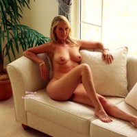 Nude Sexy Realtor Sitting On Couch With Bare Feet - Blonde Hair, Milf, Natural Tits, Naked Girl, Nude Amateur, Sexy Face, Sexy Feet, Sexy Woman