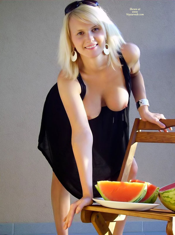 Pic #1 Fun With Watermelon :)