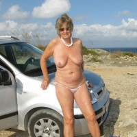 Stripping by The Car - Striptease, Mature