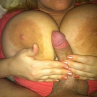 Extremely large tits of my wife - Karen Cannons