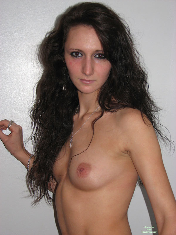 Pic #1 - Topless Girlfriend - Brown Eyes, Brunette Hair, Dark Hair, Long Hair, Small Breasts, Topless, Naked Girl, Nude Amateur , Facing Camera, Cute Big Eyed Nude, Head And Shoulders Portrait, Topless Indoor Against White Background, Nicely Proportioned, Long Haired Brunette, Brunette Long Hair, Facing Camera, Brown Eyes