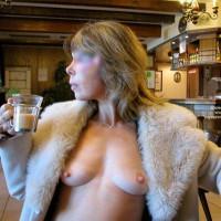 Breast In Public - Hard Nipple