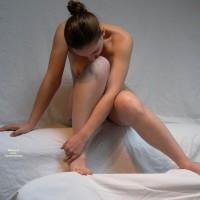 Erotic Nude Pose - Brunette Hair, Naked Girl, Nude Amateur