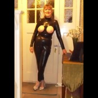 Black Latex Halloween Party Time