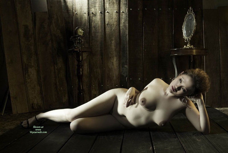 Pic #1 - ASIAN BEAUTY WITH HOT TITS - Pale Skin, Naked Girl, Nude Amateur , Pale Skin, Silky Smooth Skin, Artistic Nude, Girl Laying On Wooden Floor, Laying On Her Side On Floor, Passionate Eyes, Laying On Wooden Floor, Asian Artistic, Asian Descent