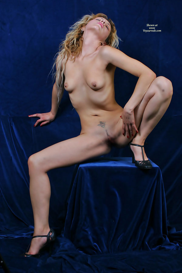 Pic #1 - Frontal Nude Blonde Sitting Spread Wide With Heels - Blonde Hair, Erect Nipples, Long Legs, Small Tits, Spread Legs, Naked Girl, Nude Amateur , Red Nailpolish, Frontal Nude On A Pedestal, Small Boobs, Head Tilted Back, Legs Spread Wide, Very Skinny And Spread, Thin Girl