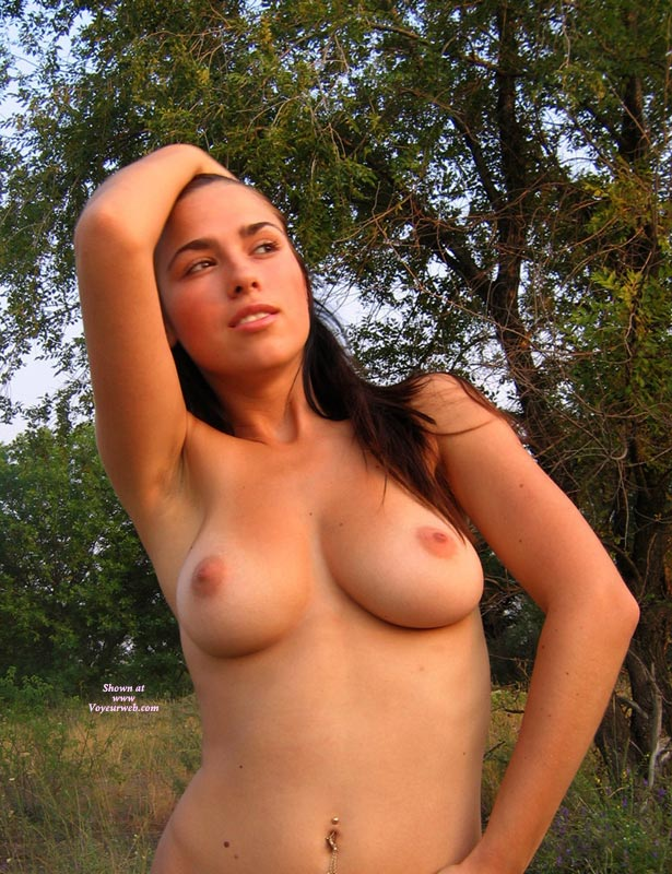Sexy Girlfriend Outdoor Topless - Brunette Hair, Long Hair, Natural Tits, Tan Lines, Topless, Naked Girl, Nude Amateur, Sexy Boobs , Long Brunette Hair, Looking Away From Camera, Light Tan Lines, All Natural, Breasts, Sentuous Face, Topless In The Woods, Pierced Bellybutton, Perfect Tits