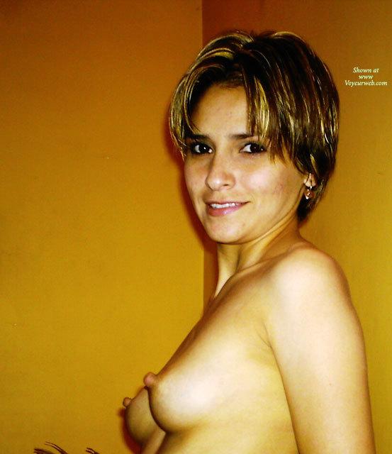Pic #1 - Erected Pencil Eraser Nipples - Erect Nipples, Long Hair, Natural Tits, Perky Tits, Small Tits, Small Areolas , Looking Into Camera, Indoor Tits, Leaning On The Wall, Large Erected Nipples, Streaked Hair, Long Nipples