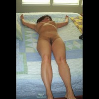 Fully Nude Wife On Bed - Erect Nipples, Large Breasts, Milf, Natural Tits, Shaved Pussy, Naked Girl, Nude Amateur, Nude Wife