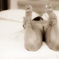 Back In Bed With Heels - Brunette Hair, Heels