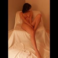 Nude Brunette Reclining