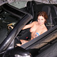 *Vl Helen `S Car - Brunette Hair, Erect Nipples, Full Nude, Hard Nipple, Voyeur