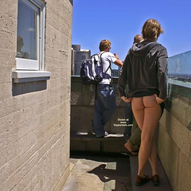Pic #1 - Naked In Public - Nude In Public , Naked In Public, Tight Ass, Pulling Up Black Skirt