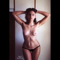 Topless Hourglass Figure Girl - Dark Hair, Topless