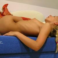 Naked Woman In Red Pumps - Blonde Hair, Heels, Red Hair