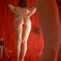 Ass In The Mirror - Bend Over, Exposed In Public, Mirror Shot, Shaved Pussy