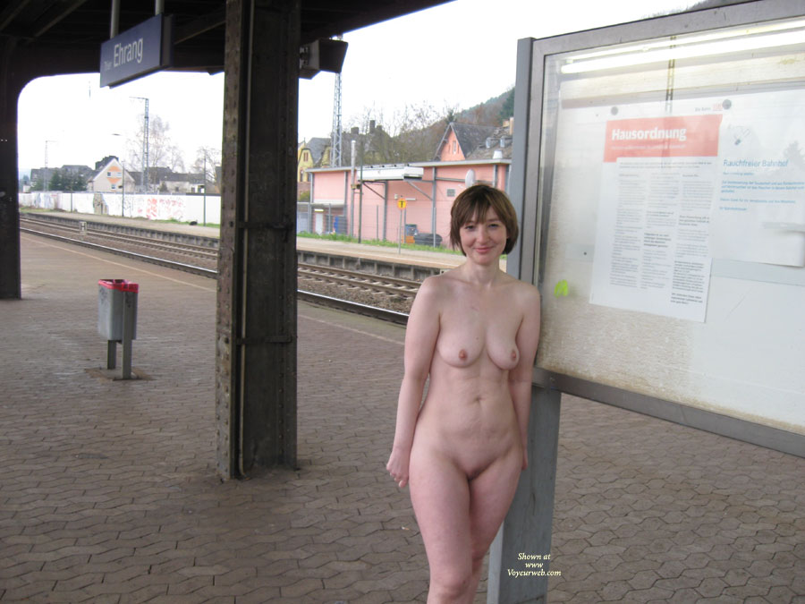 Pic #1 - Nude At Train Station - Shaved Pussy, Naked Girl, Nude Amateur, Standing Completly Nude, German Train Station, Full Frontal Nude, Nude In Train Station, Totally Nude Outdoors, Naked At Train Station, Train Station Exposure, Standing Nude At The Train Station, Leaning Against Public Notice Board