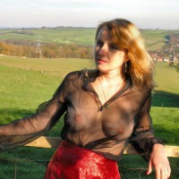 Mature Woman With See Through Blouse - Big Tits, Blonde Hair, Long Hair