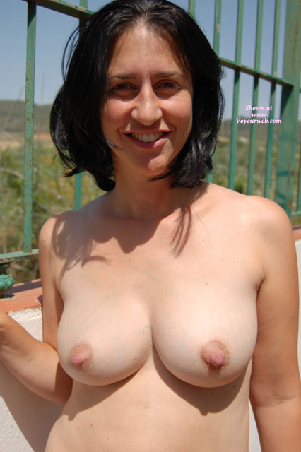 Huge Nipples - Black Hair, Huge Tits, Natural Tits, Small Tits, Topless, Small Areolas , Naked Topless Wife, Smiling Boops, Big As Gum Drops, Outdoors, Nice Nipple, Nice Smile, Milk Filled Tits, Long Nipples, Nice Black Hair