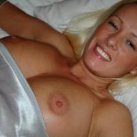 Silver Dress - Large Breasts, Nipple Slip