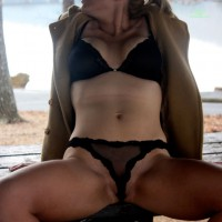 Wife in Lingerie: Cold Lake Pics