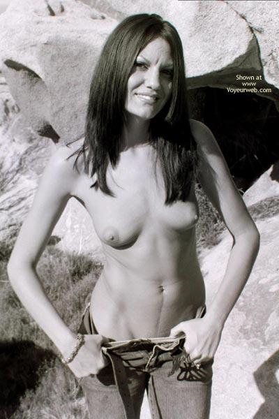 Pic #1 - Public Flashing - Flashing, Long Hair, Small Breasts , Public Flashing, Long Black Hair, Very Slim, Small Breasts