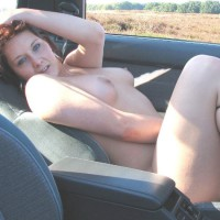 Reclining Nude In Carseat - Naked Girl, Nude Amateur