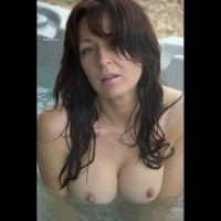 Tits Bobbing Out Of The Water - Big Tits, Blue Eyes, Brown Eyes, Brown Hair, Long Hair, Looking At The Camera