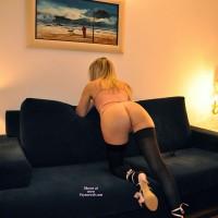 Girlfriend in Lingerie:Lola Pink Shoes