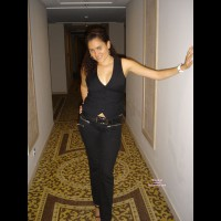 Topless Amateur:Lisa P Flashing In Hotel
