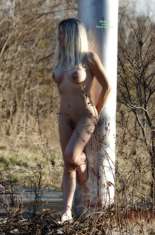 Nude Girl - Blonde Hair, Exhibitionist, Firm Tits, Nude Outdoors, Naked Girl, Nude Amateur , Full Frontal Nudity Outside, Firm Shapely Tits, Hands Behind Ass, Dark Nipples, Naked Leaning On Pole Outside, Pubic Hair, Flat Tummy, Tall Blonde, Unshaved, Leaning On A Pole, Nude Outside, Outdoor Naked Pose, Exhibitionist In Woods, Tall Slim Body, Natural Pussy