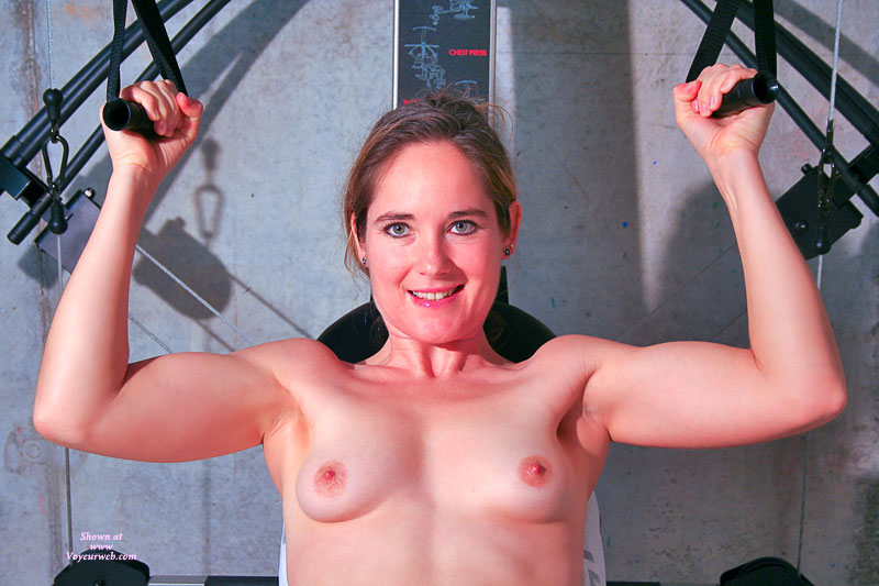 Pic #1 - Nude Workout - Blue Eyes, Small Breasts, Small Tits, Naked Girl, Nude Amateur , Naked Exercise, Mature Woman, Naked Workout, Nude On Gym Equipment, Exercising In Gym, Muscular Build, Beautiful Smallish Breasts
