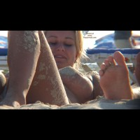 Beach Voyeur - Blonde Hair, Perky Tits, Topless Beach, Beach Tits, Beach Voyeur, Sexy Boobs