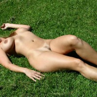 Public Show - Huge Tits, Landing Strip, Nude Outdoors, Tan Lines