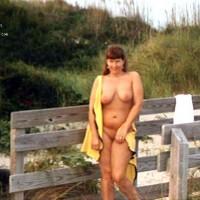 Purple Patty at a beach