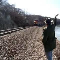 Flashing The Train Engineer